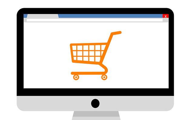 Bestellung Warenkorb orange auf dem Desktop